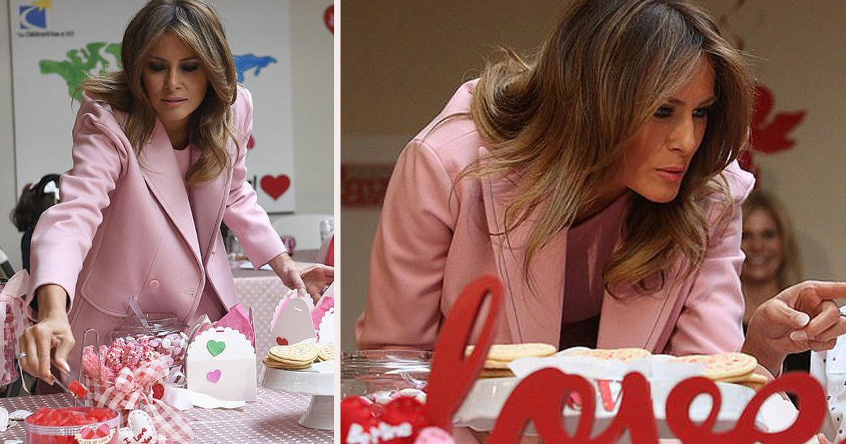 untitled 1 23.jpg?resize=412,232 - The First Lady Melania Trump Celebrated The Valentine's Day Surrounded By Kids