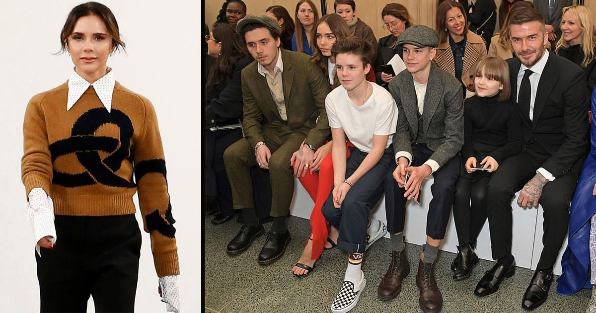 untitled 1 28.jpg?resize=412,232 - The Entire Beckham Family Attends Victoria Beckham's London Fashion Week Show In Style