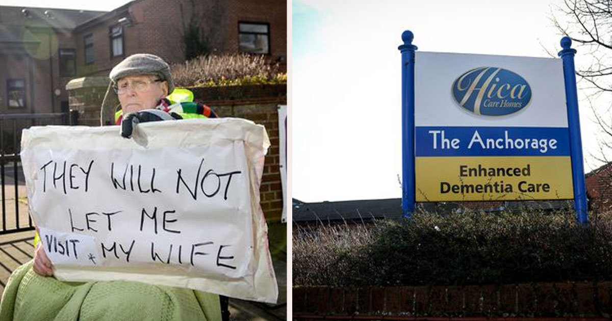 untitled 1 43.jpg?resize=412,232 - 89-Year-Old Man Launched A Protest Outside Care Home Because He Was Banned From Seeing His Wife