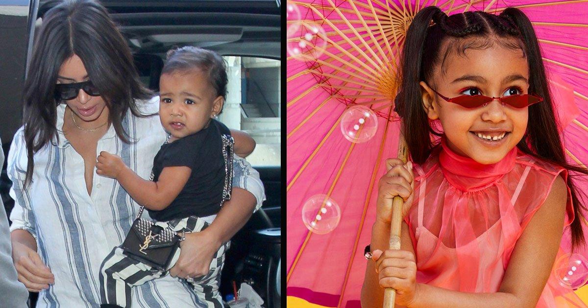untitled 1 45.jpg?resize=412,232 - North, l'aînée des enfants de Kim Kardashian, pose en maquillage parfait alors qu'elle décroche sa première couverture de magazine