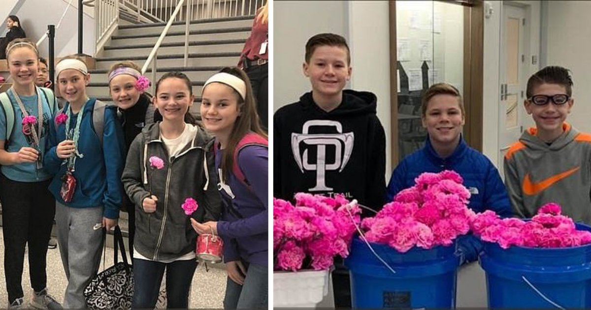 y1 9.png?resize=300,169 - Three Middle School Boys Bought Flowers For 270 Girls and 70 Female Staff Members at their School On Valentine's Day