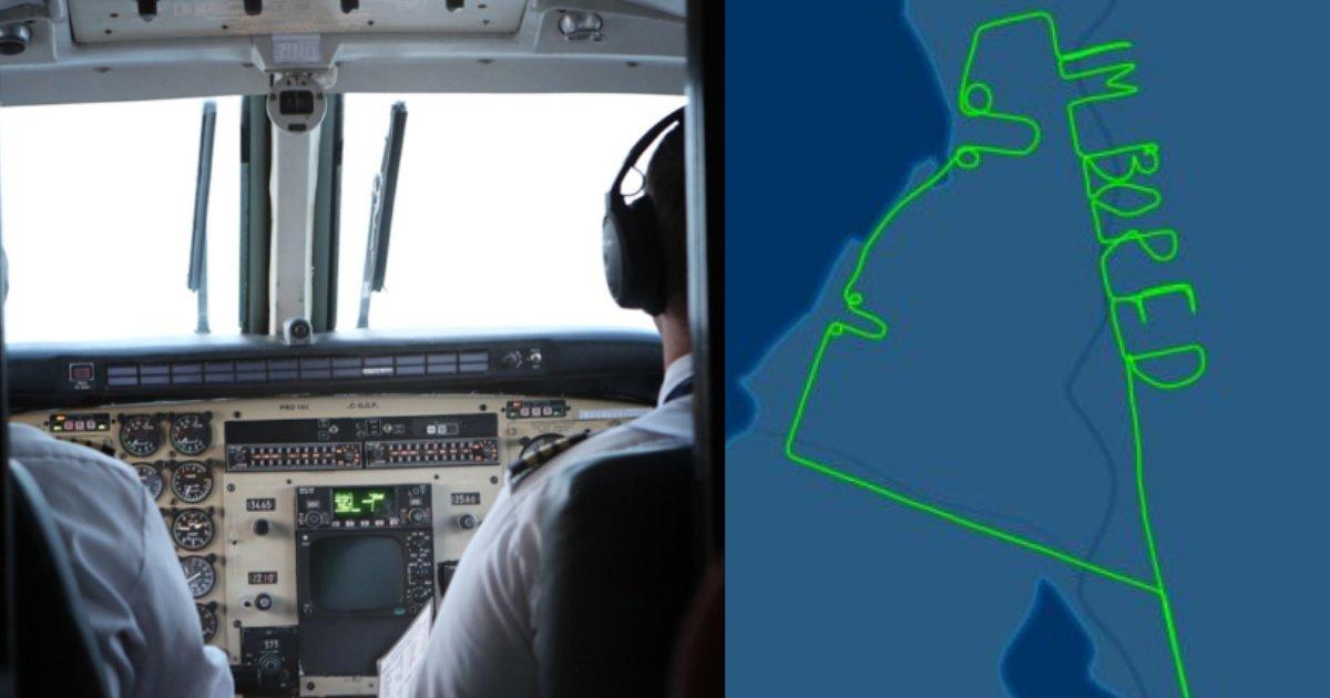 """y4 13.png?resize=1200,630 - Un pilote d'avion a écrit """"Je m'ennuie"""" dans le ciel comme le prouvent ces images-radar."""