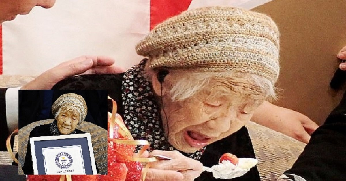 04 5.jpg?resize=1200,630 - Japanese Woman Celebrates Becoming The Oldest Living Person In The World By Eating Strawberries And Cream