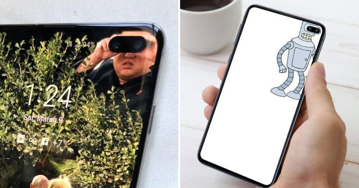 """4 46.jpg?resize=412,232 - """"구멍 거슬리지 않아""""... 새로운 '삼성폰'에 딱맞는 배경화면을 찾은 미국인들.jpg"""