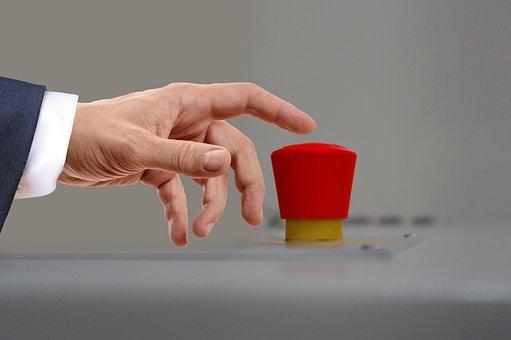 War, Nuclear War, Red, Button, Finger