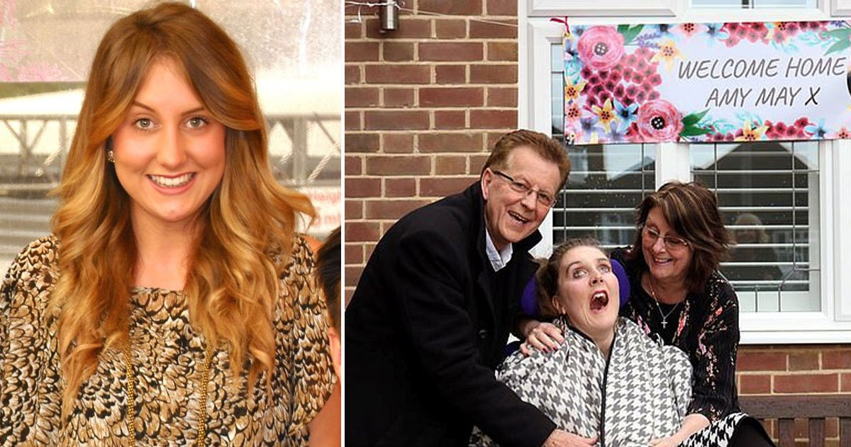 amy may.jpg?resize=1200,630 - Former Producer Returned Home After She Was Left Partially Paralyzed And Blind