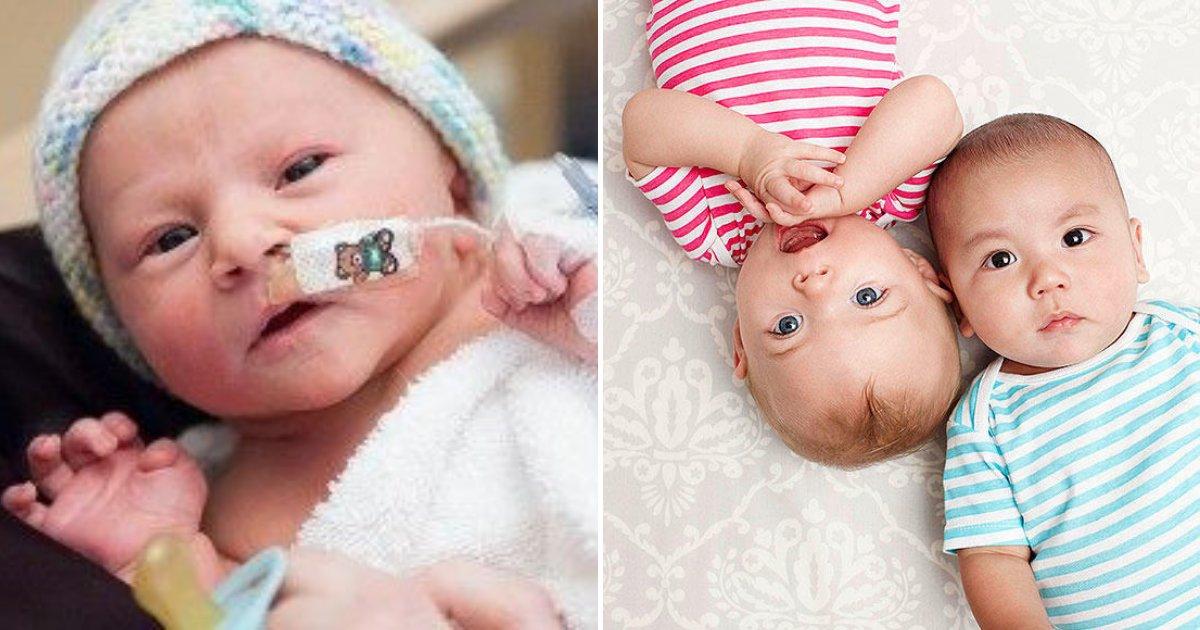 babies.png?resize=412,232 - Une mère donne naissance à des jumeaux UN mois seulement après avoir accouché d'un fils prématuré