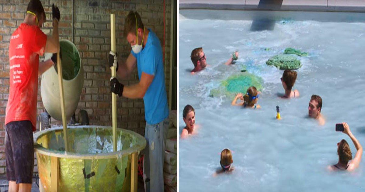 bath bomb huge.jpg?resize=1200,630 - Ces hommes fabriquent une bombe de bain de 910 kilos pour transformer une piscine en baignoire !