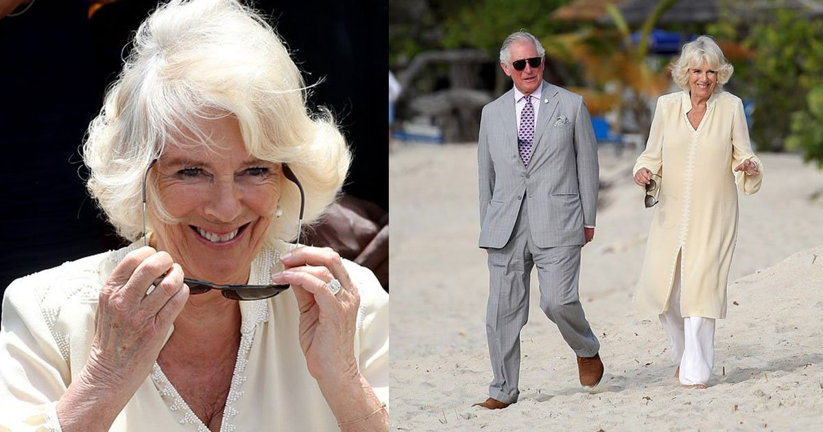 camilla went barefoot for a stroll along the beach with charles.jpg?resize=412,232 - Camilla Went Barefoot For A Stroll Along The Beach With Prince Charles