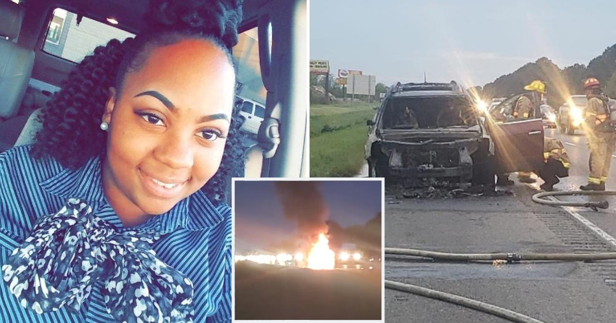 car4.png?resize=1200,630 - 18-Year-Old Saves Pregnant Woman From Burning Car As She's Not Aware Of Fire Underneath