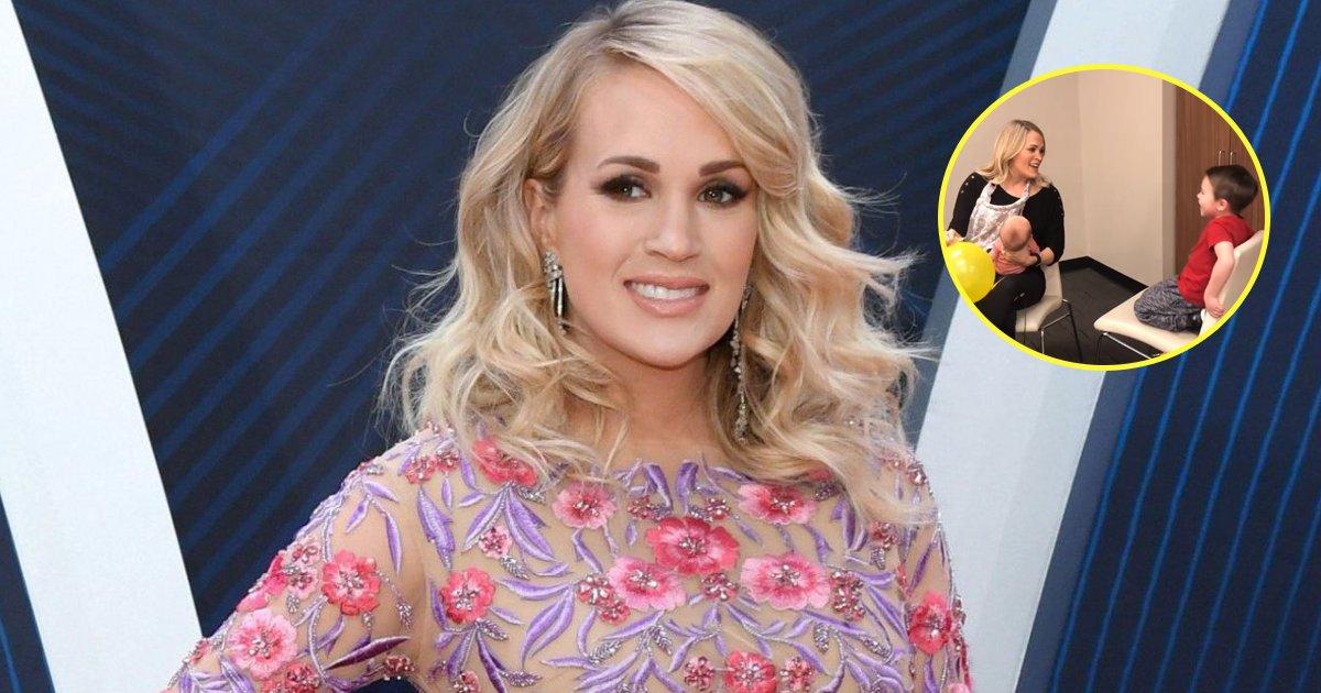 carrie underwood sing song.png?resize=300,169 - Carrie Underwood chante 'Joyeux anniversaire' à son fils dans un style épique