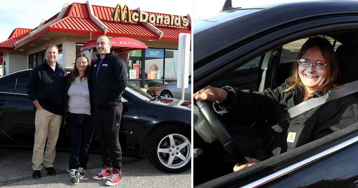 customer gifts car.jpg?resize=300,169 - Une employée de McDonald's reçoit une voiture en cadeau de la part d'un client !