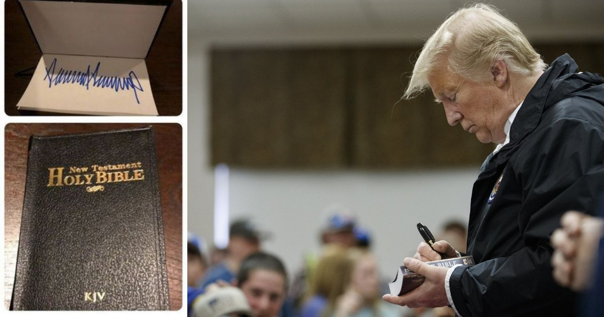 d1 8.png?resize=1200,630 - Bible Signed By Trump Sold For $325 on eBay