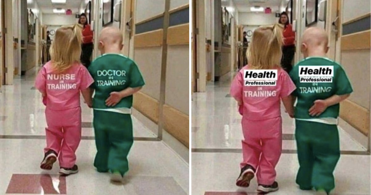 d1 9.png?resize=412,275 - People Divided Over A Picture Of Little Boy 'Doctor' Holding Hands With Girl 'Nurse'
