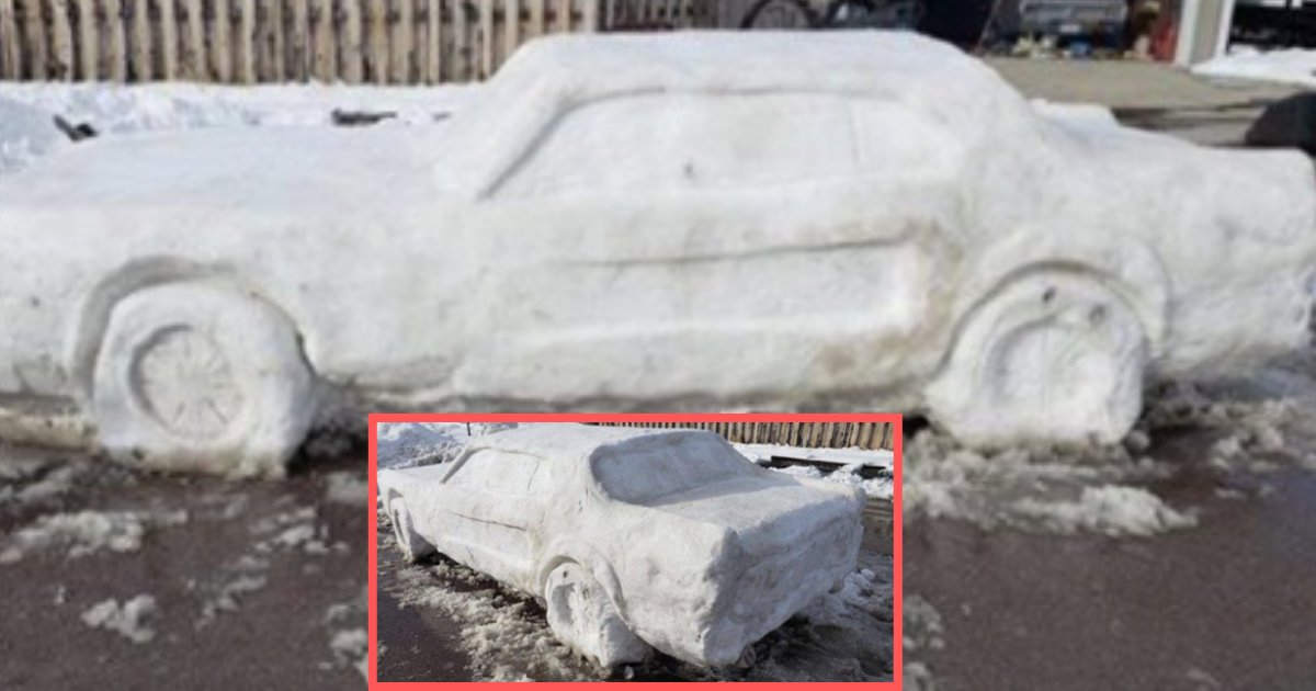 d3 11.png?resize=1200,630 - A Family Builds Lifelike Ford Mustang Out of Snow and Gets a Ticket For It
