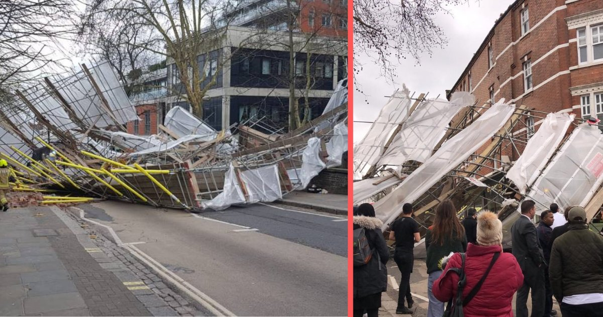 d3 5.png?resize=1200,630 - Massive Four-Story Scaffolding Took a Fall in North London at a Hospital Located in the Pond Street