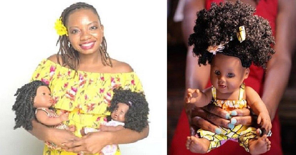 d4 2.jpg?resize=188,125 - Une femme crée des poupées avec différentes teintes de peau et des coupes afros pour apprendre aux jeunes filles à s'aimer comme elles sont