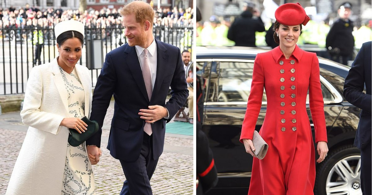 d4 6.png?resize=412,232 - Meghan Markle Wore €18,000 Designer Outfits in a Single Day Whereas Kate Decided to Wear a 5-Year-Old Catherine Walker