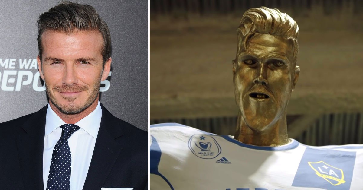 david beckham fake statue.jpg?resize=1200,630 - David Beckham's Reaction After Seeing His Fake Statue In A Hilarious Prank