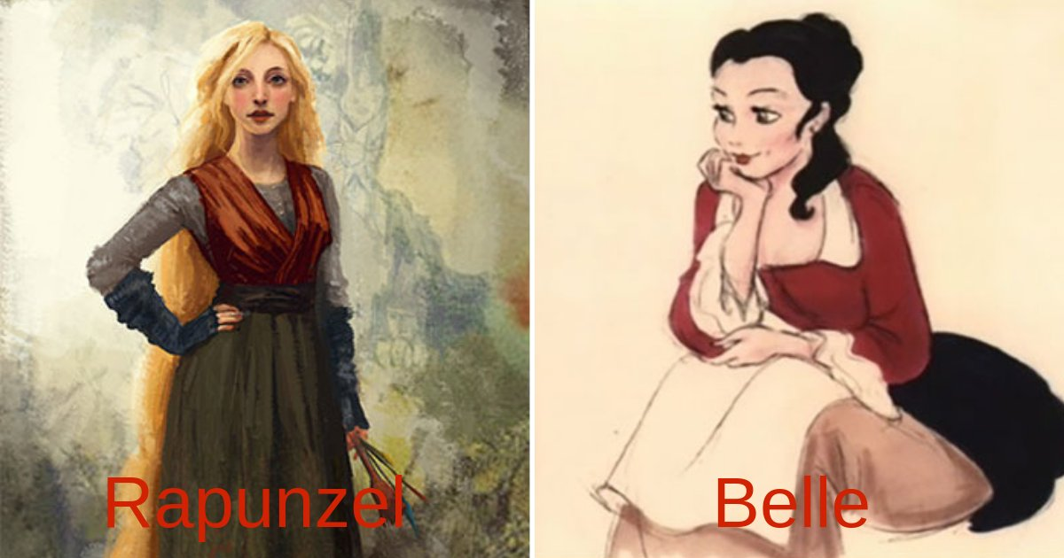 disneycharacters.png?resize=1200,630 - Here's How Disney Characters Looked In Their Original Concept Art