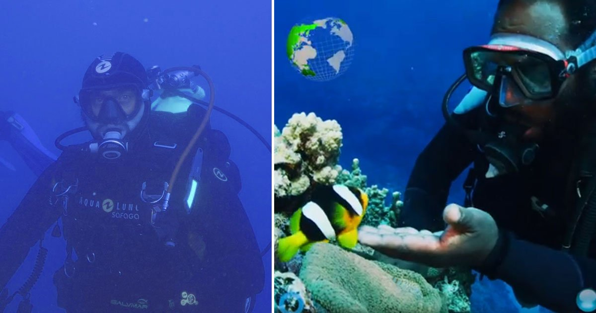 diver and fish friends.jpg?resize=412,275 - Scuba Diver And A Tiny Fish Are A Decade-Long Friends - Their Bond Will Melt Your Heart