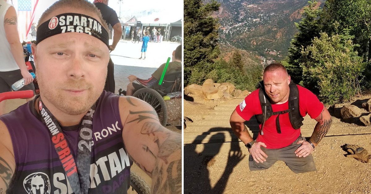 double amputee veteran.jpg?resize=1200,630 - Double Amputee Veteran Climbs 3000 Steps In Five Hours To Raise Awareness For Vet