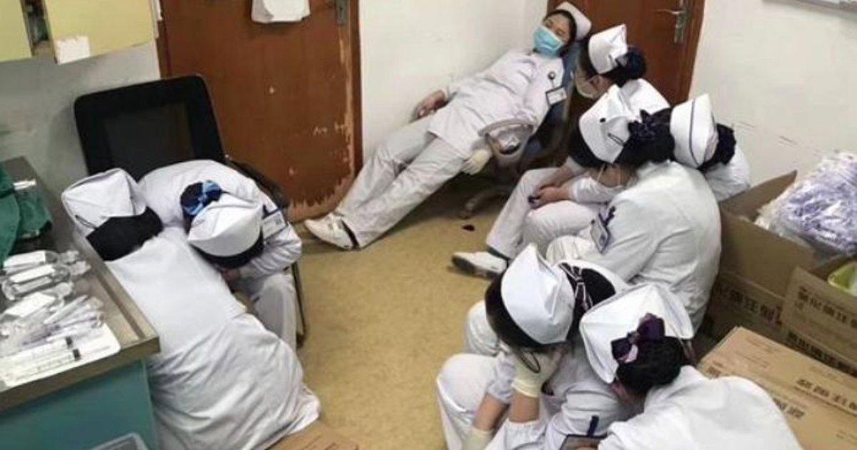 e696b0e5bbbae9a1b9e79bae 8 1.png?resize=1200,630 - 「緊急室患者」のため徹夜仕事していた看護師たち、仲間の方を借りてそのまま眠りにつく…