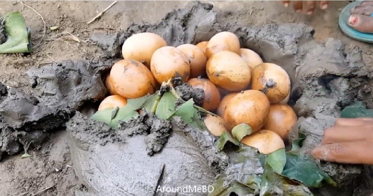 ec8db82 7.jpg?resize=412,232 - 물 없이 '진흙'만으로 삶아지는 '신기한' 계란 (영상)