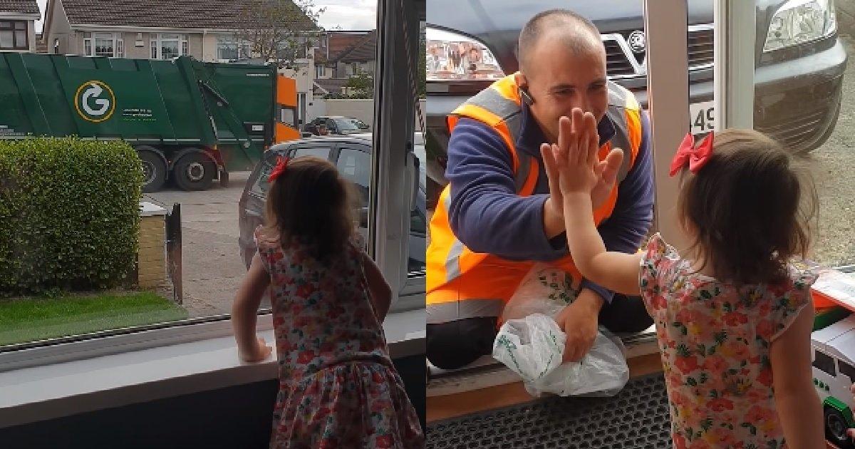 ec8db86.jpg?resize=412,232 - '좋아요' 70만 개 받은 쓰레기 수거 트럭기사와 어린 소녀의 '특별한' 우정 (영상)