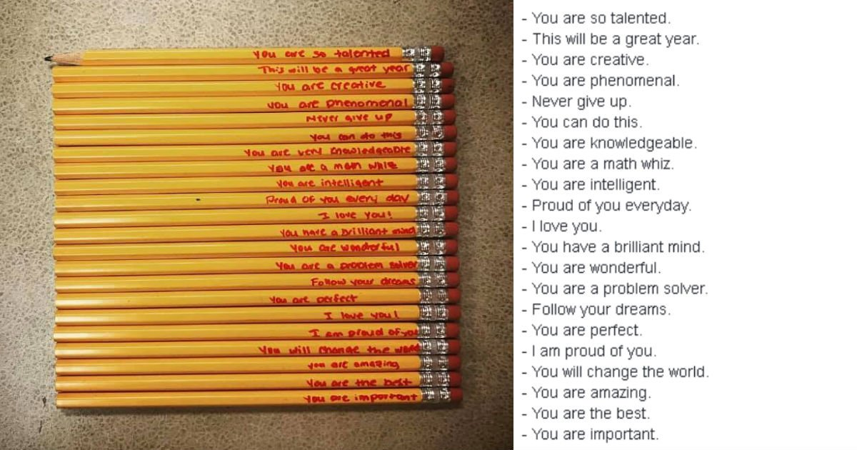 "ec97b0ed9584.jpg?resize=1200,630 - ""선생님은 아이가 집에서 가져온 '특별한' 연필들을 보고 놀라움을 금치 못했다"""