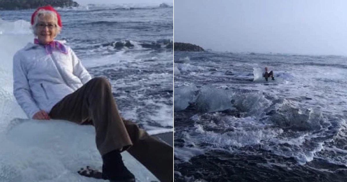 eca09cebaaa9 ec9786ec9d8c 15.png?resize=412,232 - 아이슬란드 여행 중 얼음 위에서 사진 찍다 바다에 표류된 70대 여성