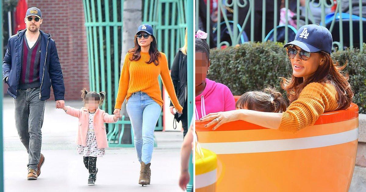 eva mendes 45 birthday disneyland.jpg?resize=412,275 - Eva Mendes Celebrates Her 45th Birthday With Her Family At Disneyland