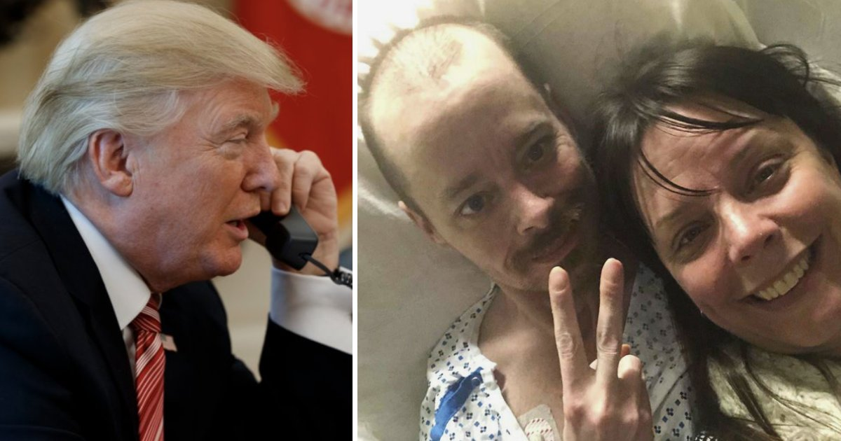 featured image 16.png?resize=412,232 - Heartwarming Moment As Trump Calls Terminally Ill Man To Fulfill His Dying Wish