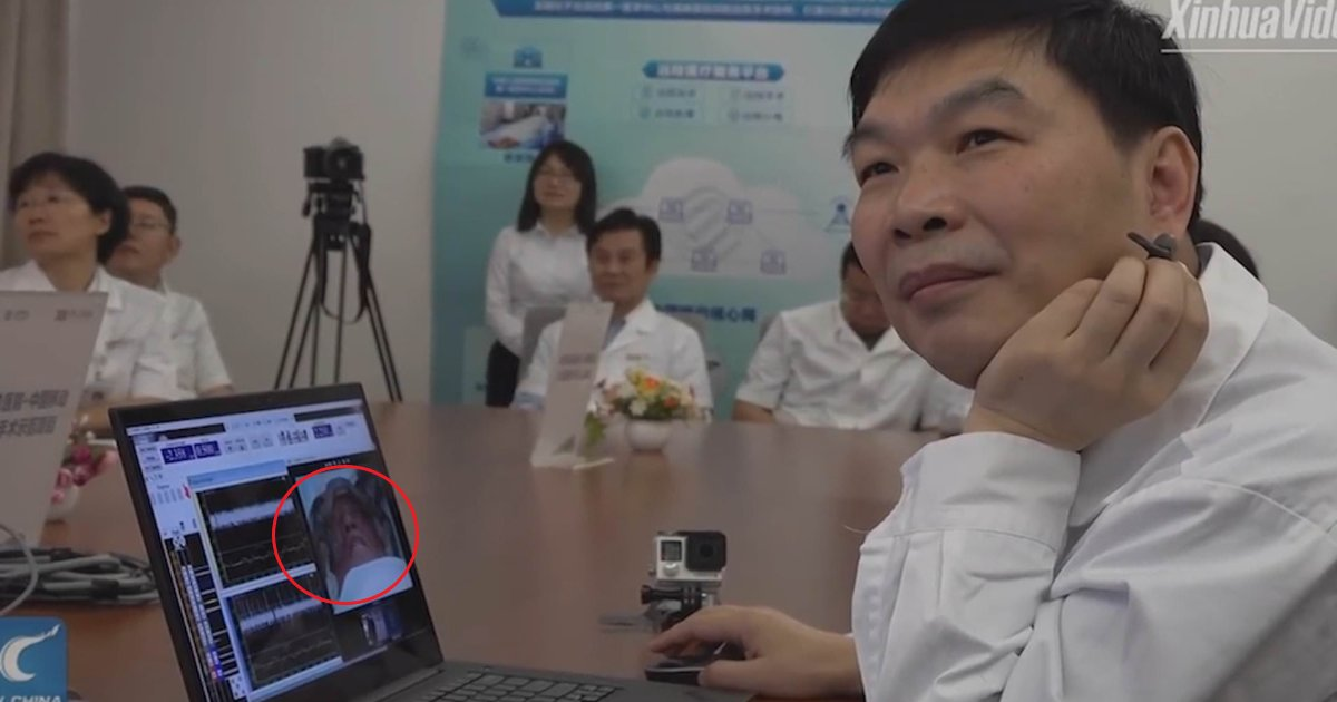 featured image 41.png?resize=412,232 - Chinese Surgeon Performs First Ever 'Remote' Brain Surgery On A Patient Thousands Of Miles Away