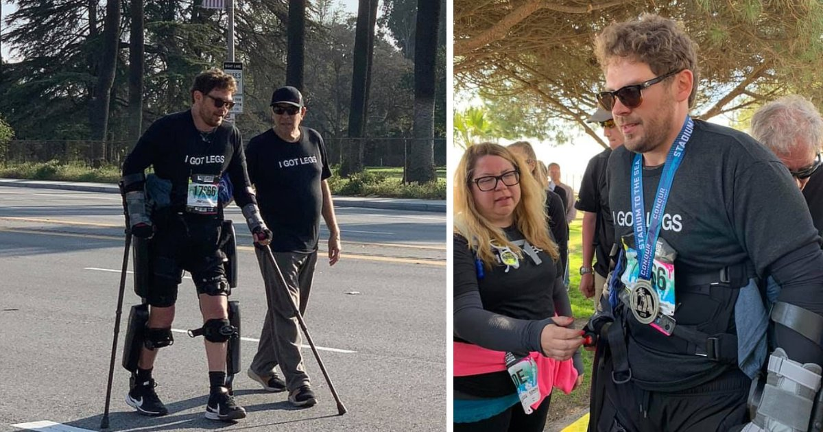 featured image 56.png?resize=412,232 - Paralyzed Man Completes Los Angeles Marathon With The Help Of His Exoskeleton