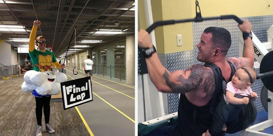 funny gym adventures3 1.jpg?resize=412,275 - 47 Hilarious And Weirdest Things That Ever Happened At The Gym