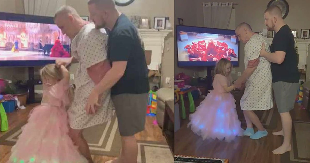 heart touching video of little girl dancing with her grandfather who is unable to stand went viral.jpg?resize=1200,630 - Heart Touching Video Of A Little Girl Dancing With Her Grandfather Who Is Unable To Stand