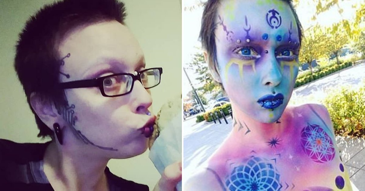 jareth7.png?resize=1200,630 - 33-Year-Old Man Now Identifies As 'Agender Alien' After Having Eyebrows Removed To Look Less Human