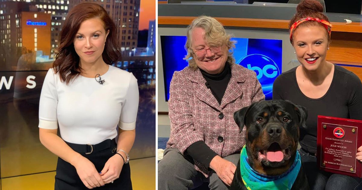 julie wilson award saving dog.jpg?resize=1200,630 - Julie Wilson, Who Rescued A Dog From Flood, Received An Award For Her Act Of Kindness