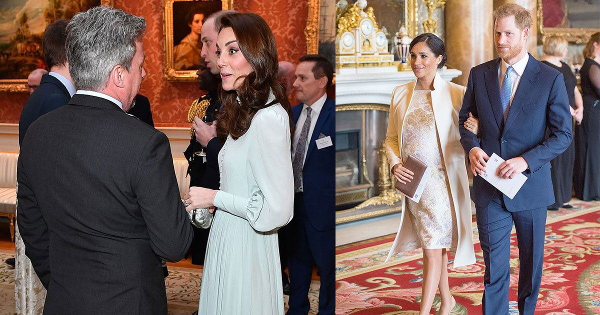 kate and meghan made a joint appearance at party hosted by queen in tribute to prince charles 50 years service.jpg?resize=1200,630 - Kate And Meghan Made A Joint Appearance At Party Hosted By Queen In Tribute To Prince Charles' 50 Years Service