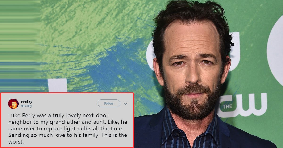 luke perry.jpg?resize=412,275 - Friends And Fans Share Luke Perry's Random Acts Of Kindness
