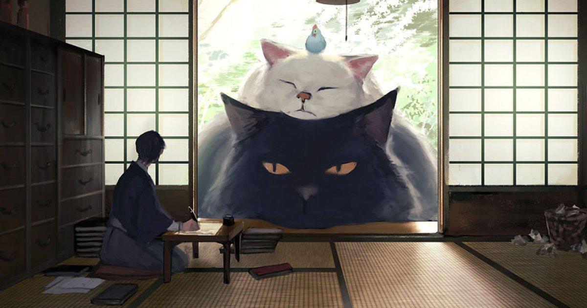 magical world.png?resize=300,169 - Un artiste japonais a illustré un monde où nous vivons parmi des animaux géants et c'est absolument magique