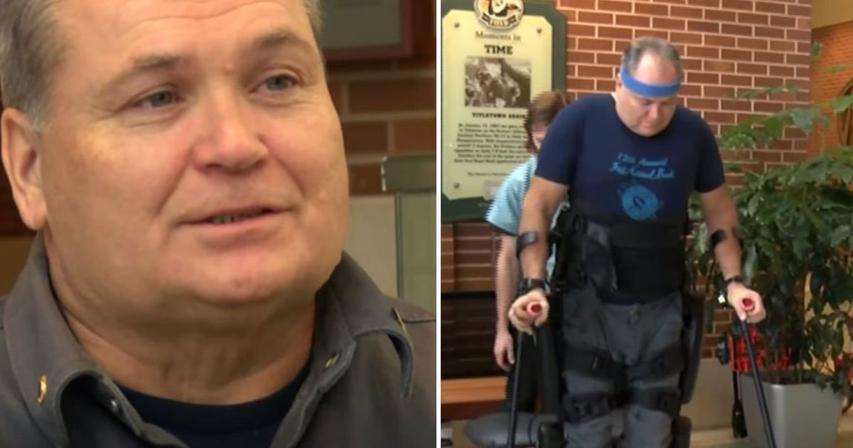 paralyzed man walks.jpg?resize=412,232 - Veteran - Who Was Left Paralyzed After A 30-Foot Fall From A Tree - Walks After 30 Years