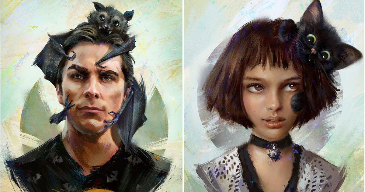 pets of famous characters.png?resize=1200,630 - 8 Portraits artistiques numériques de personnages de films