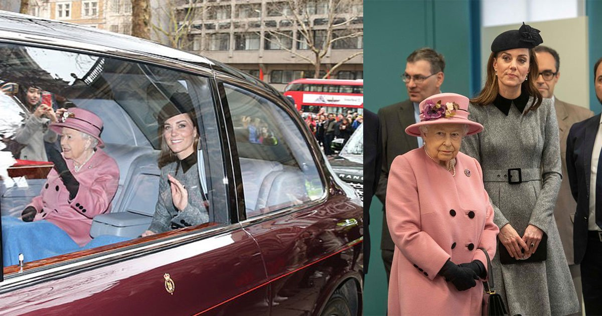 queen and kate stepped out for a joint engagement at kings college london.jpg?resize=412,232 - Queen And Kate Stepped Out For A Joint Engagement At King's College London