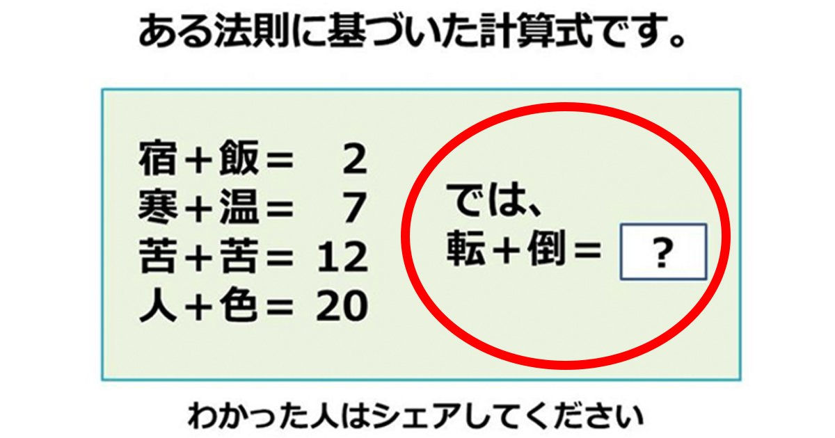 quiz.jpg?resize=1200,630 - 【超難問】これができたあなたは天才!!!正解率10%の超難問の法則が見つけられる?!