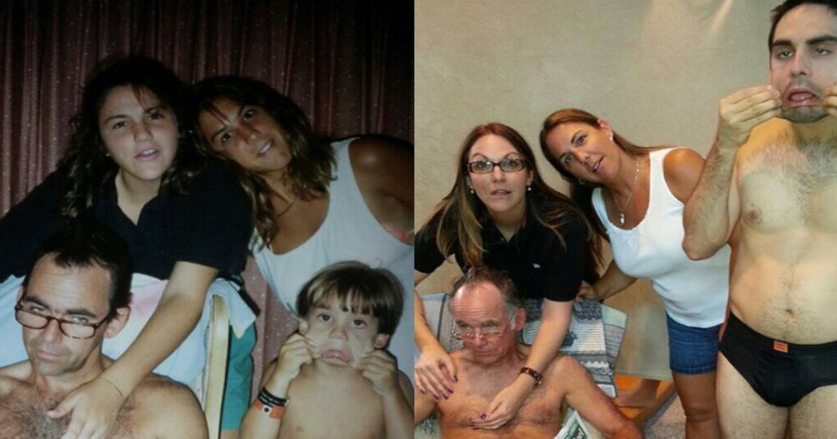 recreating photos.png?resize=1200,630 - 13 People Who Hilariously Recreated Their Childhood Photos