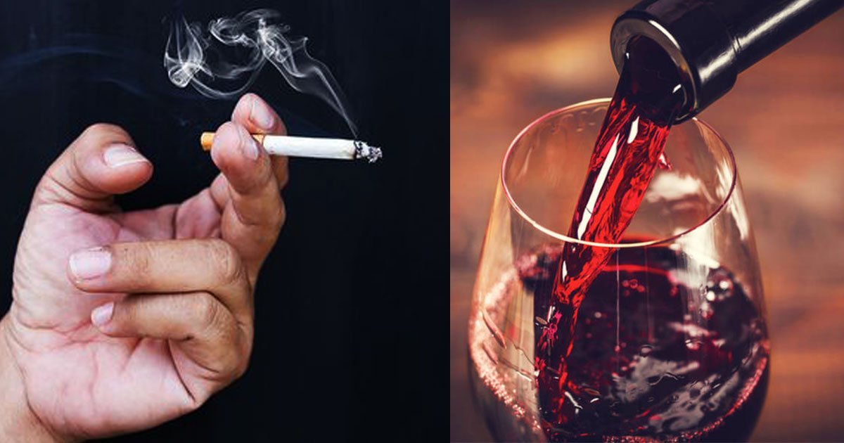 risk of cancer from drinking one bottle of wine is same as smoking eight cigarettes a week claim scientists.jpg?resize=1200,630 - Drinking One Bottle Of Wine Is The Same As Smoking Eight Cigarettes A Week