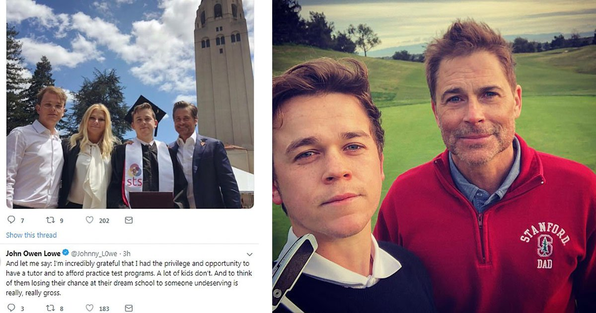 rob lowe praised his hardworking sons amid college admissions scandal.jpg?resize=1200,630 - Rob Lowe Praised His 'Hardworking Sons' Amid College Admissions Scandal