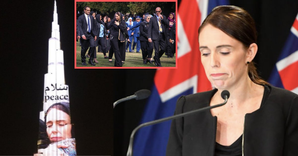 s1 16.png?resize=412,275 - Picture of New Zealand's Prime Minister Hugging and Mourning With Someone was Flashed on Burj Khalifa